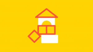 kleuterparticipatie: icoon met bouwblokjes