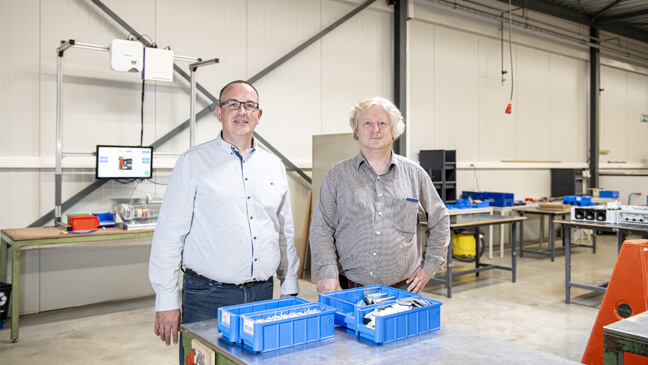Ivan Hoeken & leraar Ludwig Swennen bij BEWEL