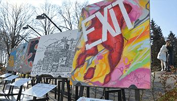 Kunstwerken van de expo 'art liberty'