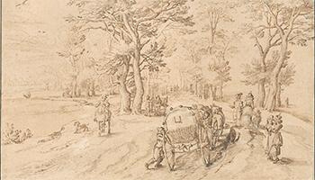 tekening van Jan Brueghel