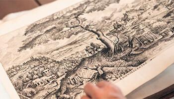 zwart-witprent van Bruegel