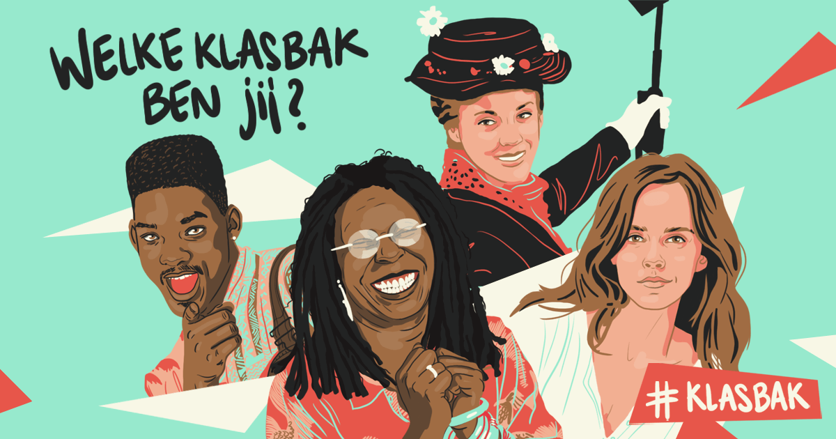 dag van de leraar - dvdl - Collage van klasbakken Will Smith, Whoopi Goldberg, Mary Poppins en Emma Watson