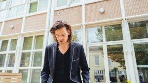 Portret van Maurice De Greef voor schoolgebouw