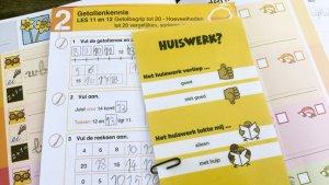 Bladwijzer waarmee je via de agenda aan de leraar kunt laten weten hoe het huiswerk verliep - Feedback