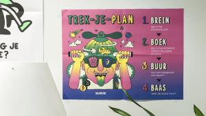 Poster 'Trek-je-plan' voor zelfsturing bij tieners
