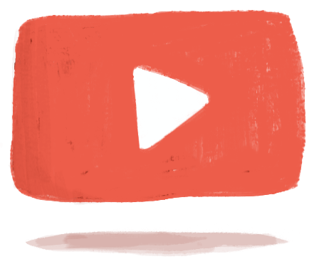 spreekangst: illustratie youtube logo