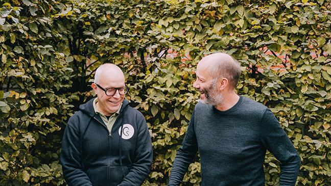 auteur Paul Wauters en regisseur-componist Koen Brandt van Het Geluidshuis