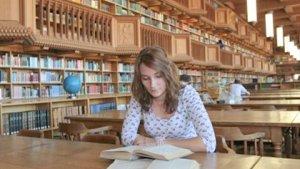 leeszaal van Universiteitsbibliotheek KULeuven