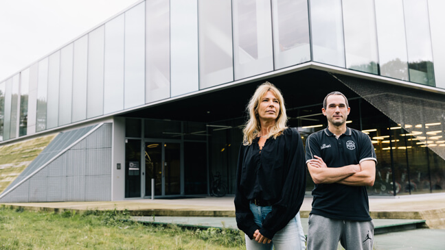 Topsportschool_Wilrijk: Leraren Sandy Lalieux en Pieter Pas
