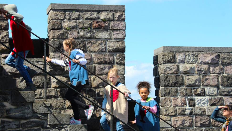 Kindjes in het gravensteen