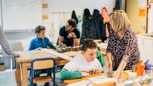 Marijke Van der Steen, leraar 2 e en 3e kleuterklas De Speurneus, op Klasdate