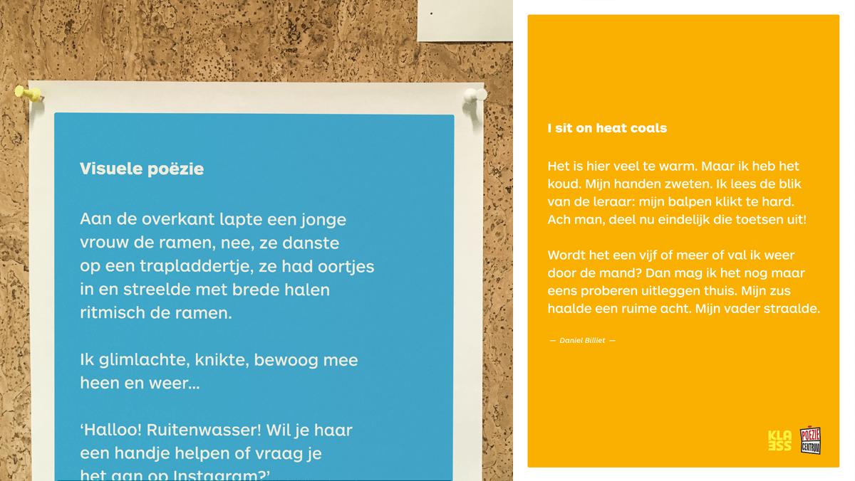 Poster met gedicht van Daniel Billiet naar aanleiding van de Dag van de Poëzie