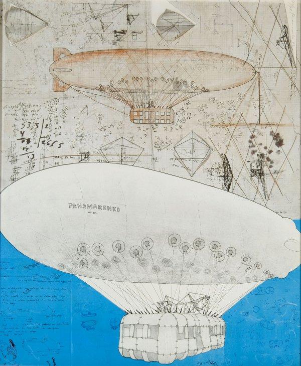 tekening van Aeromodeller van Panamarenko