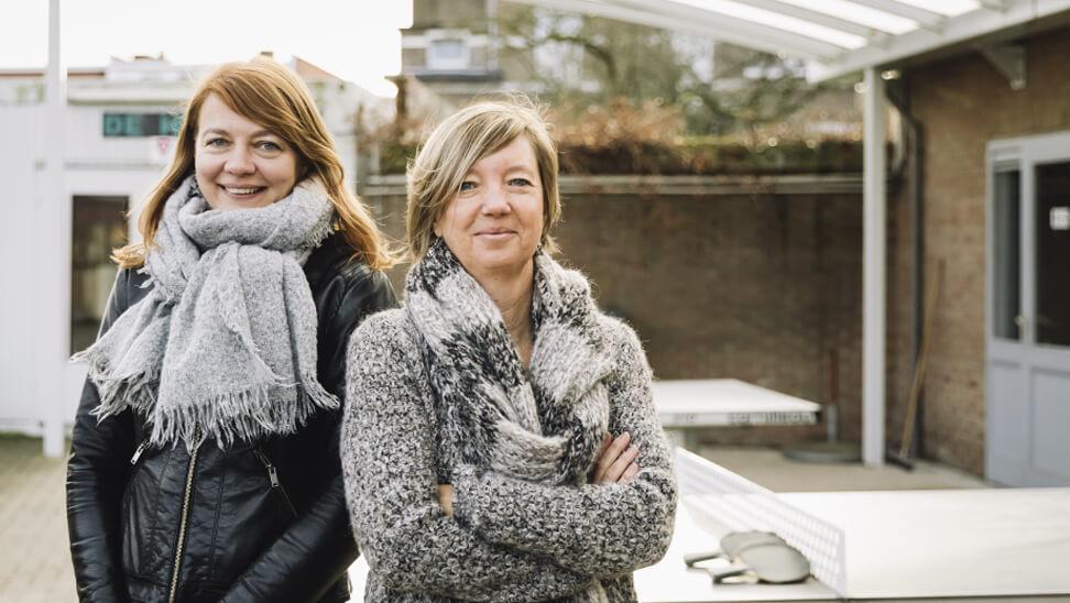 Saskia en Adinda van CLWA Het Leerpunt in Merksem.