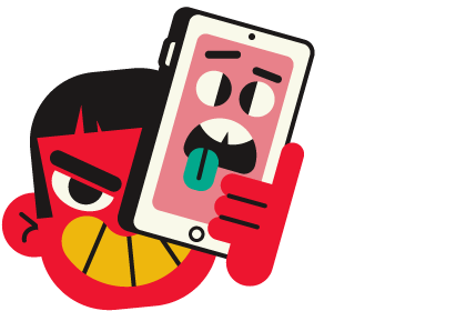 cyberpesten: illustratie 'nadoen'