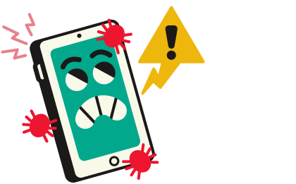 cyberpesten: illustratie 'vernielen'