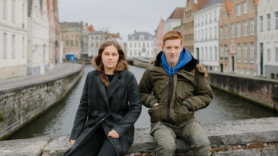 Milan en Renée zitten in het schakeljaar van De Passer.