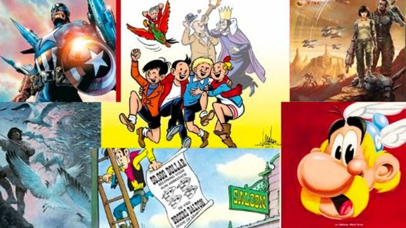 verschillende stripfiguren