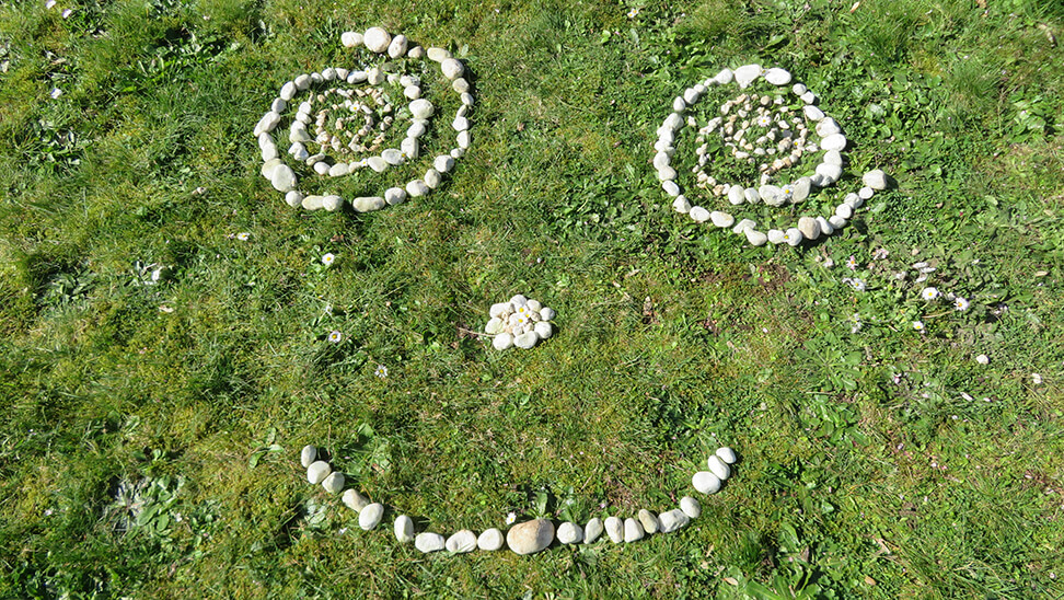 Land Art met keien