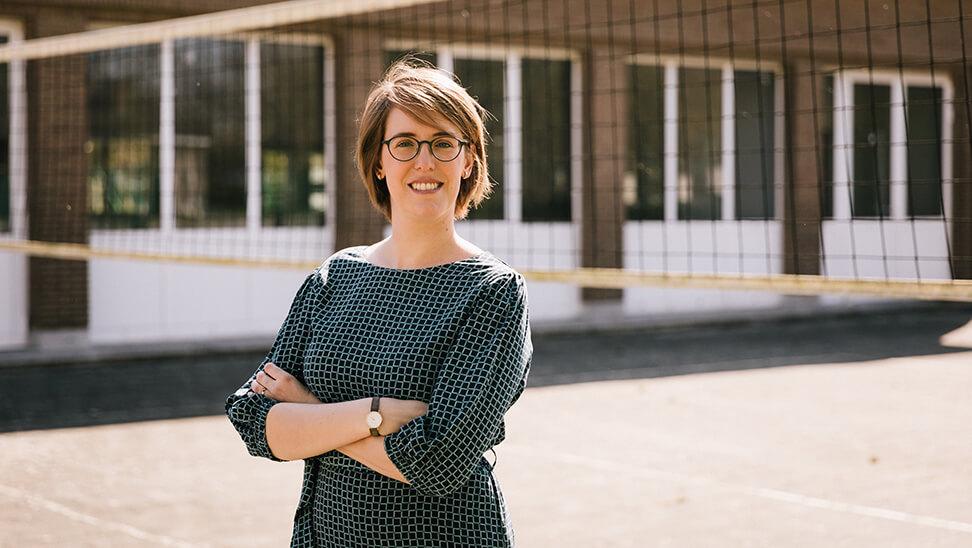 Portret van Kim Bellens, onderwijsonderzoeker aan het Expertisecentrum voor Effectief Leren van de Thomas More Hogeschool
