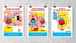 Posters coronamaatregelen op kindermaat