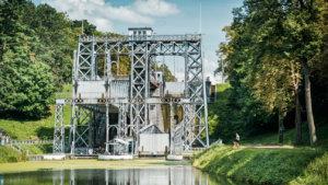 Strépy-Bracquegnies (La Louvière) - Historische 'Canal du Centre' - Hydraulische lift No. 3