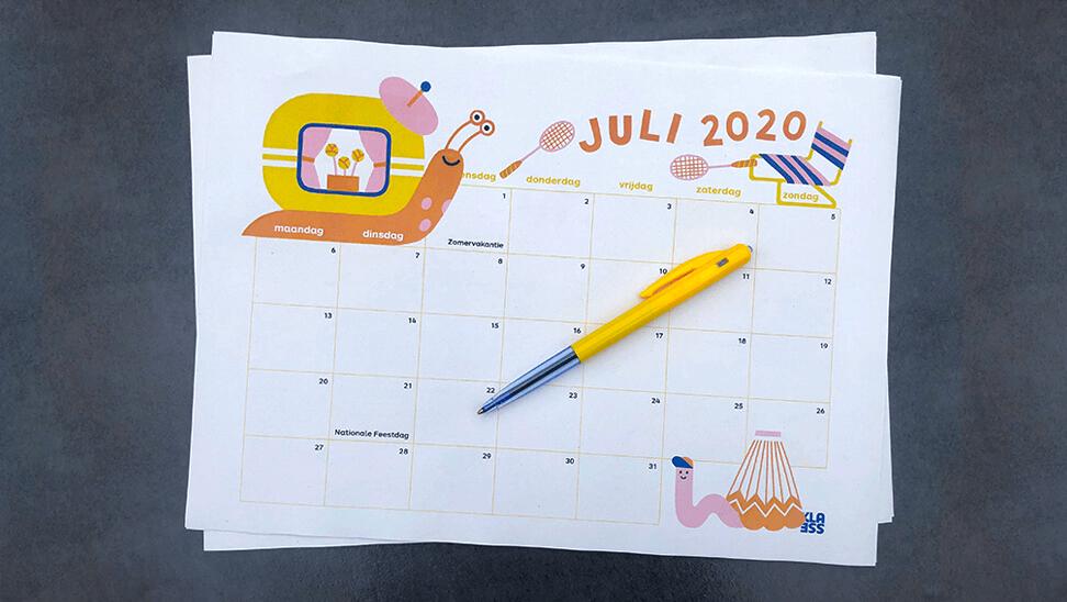 Kalender voor het schooljaar 2020-2021 - Klasse