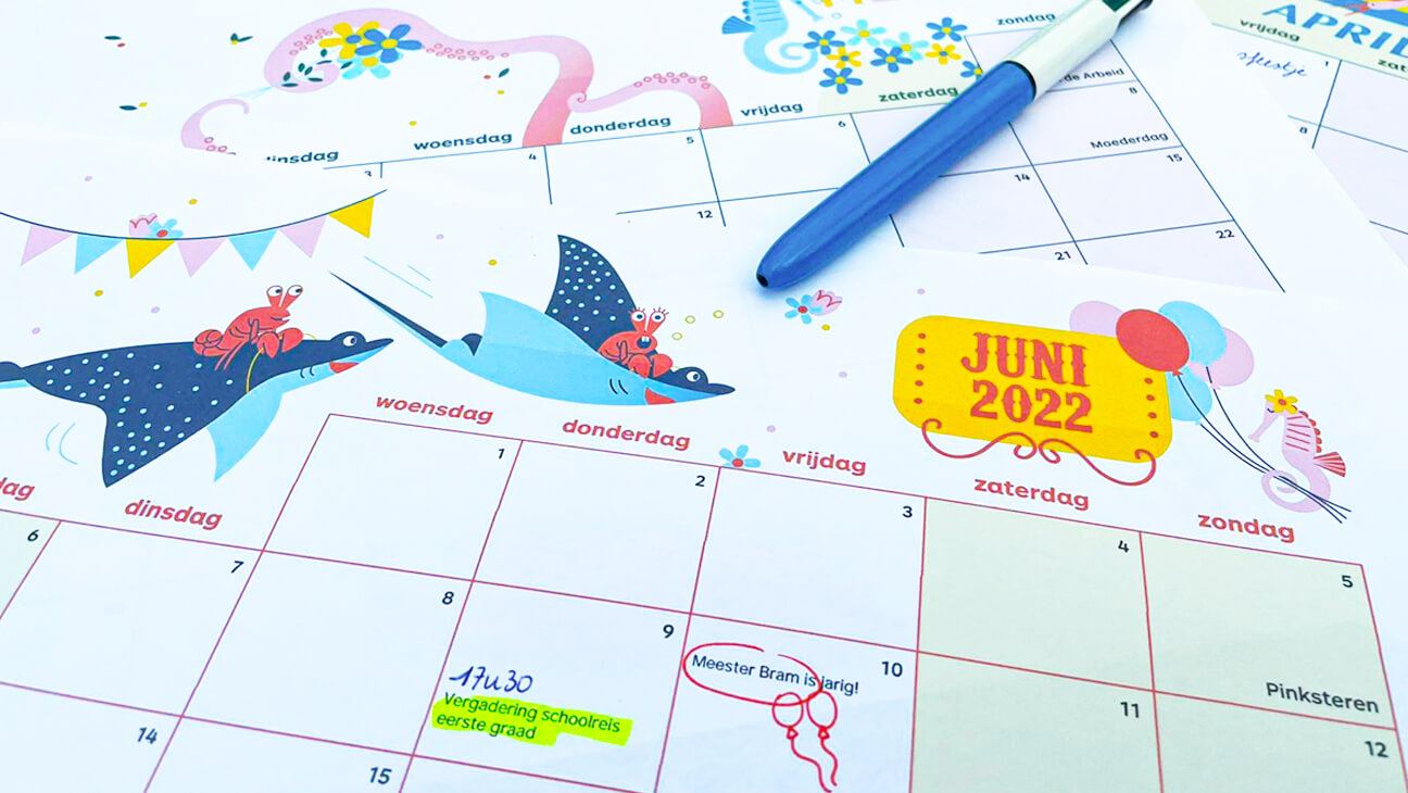 Klasse kalender 2021 2022