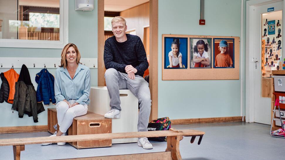 Cindy De Smidt en Thomas Vancoillie. Basisschool De Springplank, Tielt