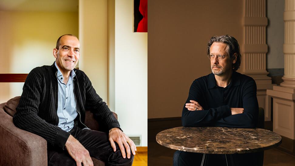 foto van onderzoekers Wouter Schelfhout en Koen Marichal