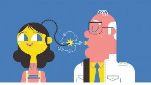 Illustratie autismevriendelijke klas: Lontje uit hoofd van leerling