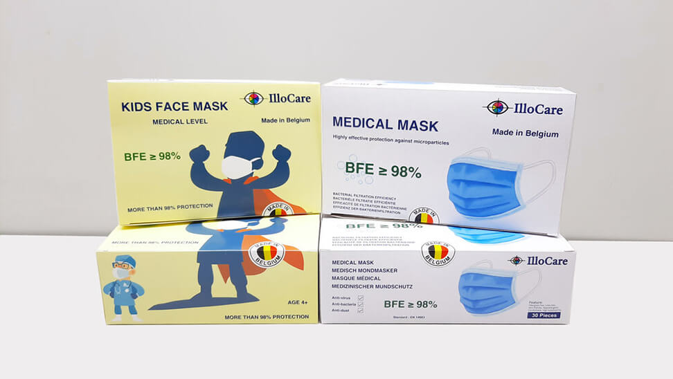 dozen met mondmaskers