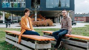 Directeur Patricia Hanegreefs en leraar Gert Goyens van Wico Campus Overpelt