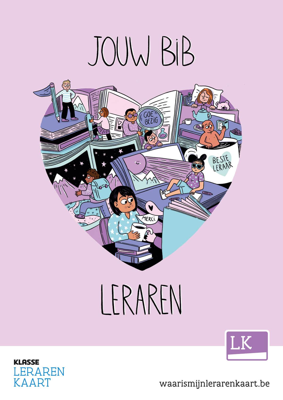 Poster bibliotheek Lerarenkaart 2021