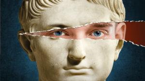 gebeeldhouwd hoofd van een Romein
