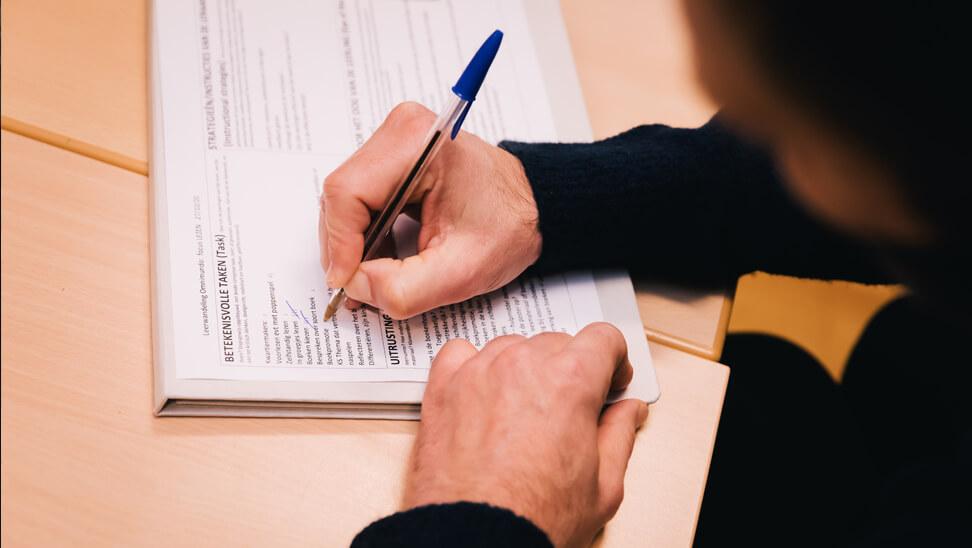 Leerwandeling: bevindingen aanduiden op het TIDE-formulier