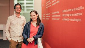 Experten netwerken Piet Van den Bossche en Sara Van Waes (UAntwerpen)