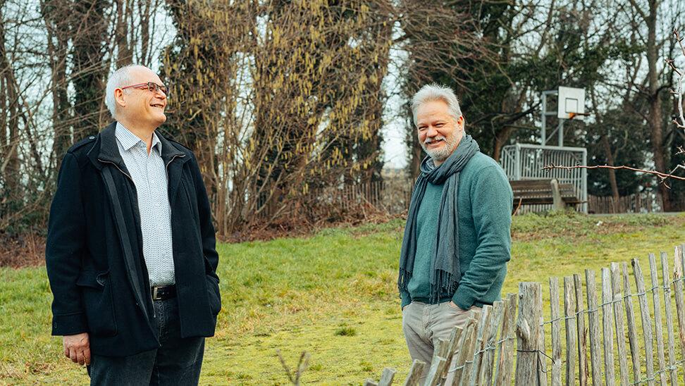 Pieter Vielfont, directeur Atheneum Zavelenberg en Harald De Muynck, directeur CVO Brussel