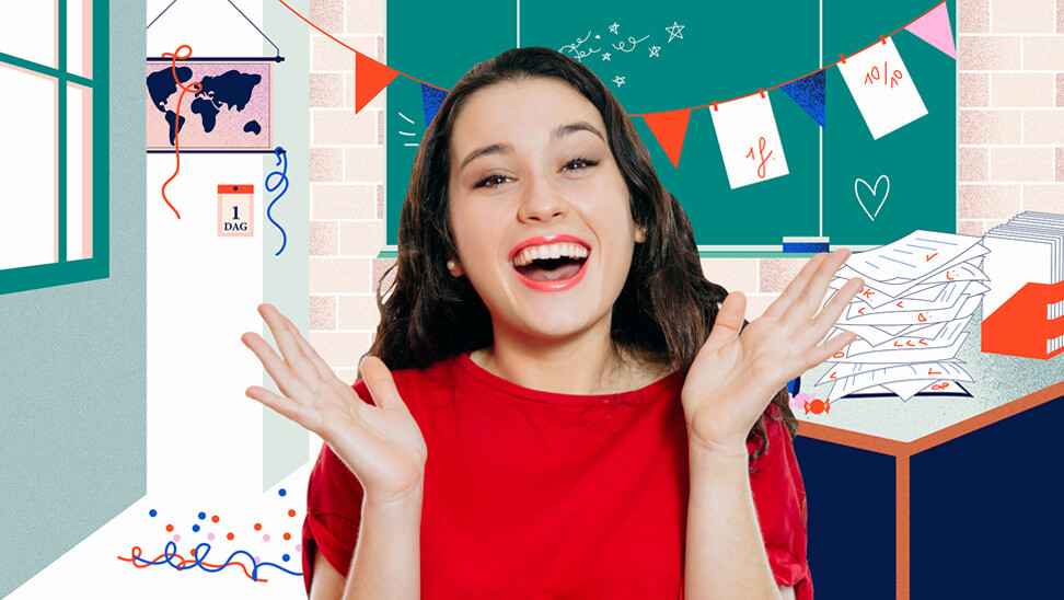 Schoolse achtergronden voor online lessen