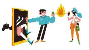 Illustratie 'week tegen pesten'