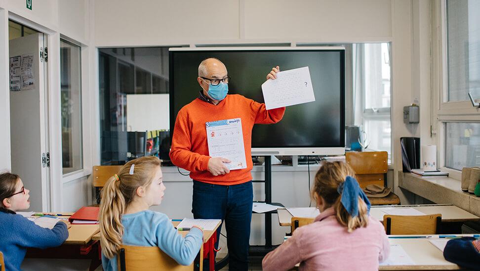 Franky Feys, leraar 4de leerjaar en Tim Dhuyvetter, zorgcoördinator