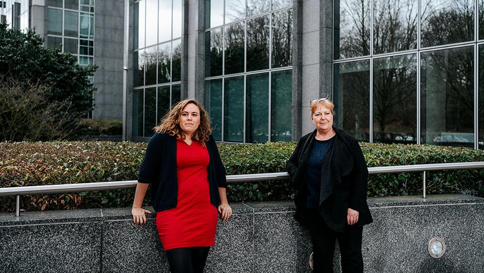 Onderzoeker Vicky Willegems en promotor Nadine Engels