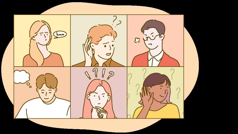 Vragenronde illustratie