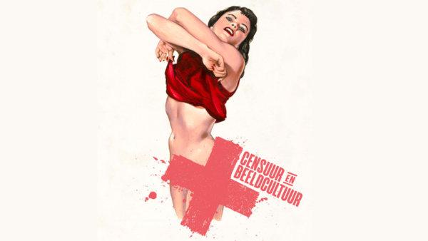 Campagnebeeld van expo x -censuur en beeldcultuur