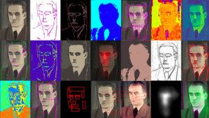 Beeld uit de expo SECRETS - Artificiële intelligentie en Luc Tuymans