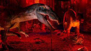Dinosaurus op de expo 'dino world'