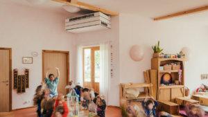 Systeem dat lucht ververst binnen een klas