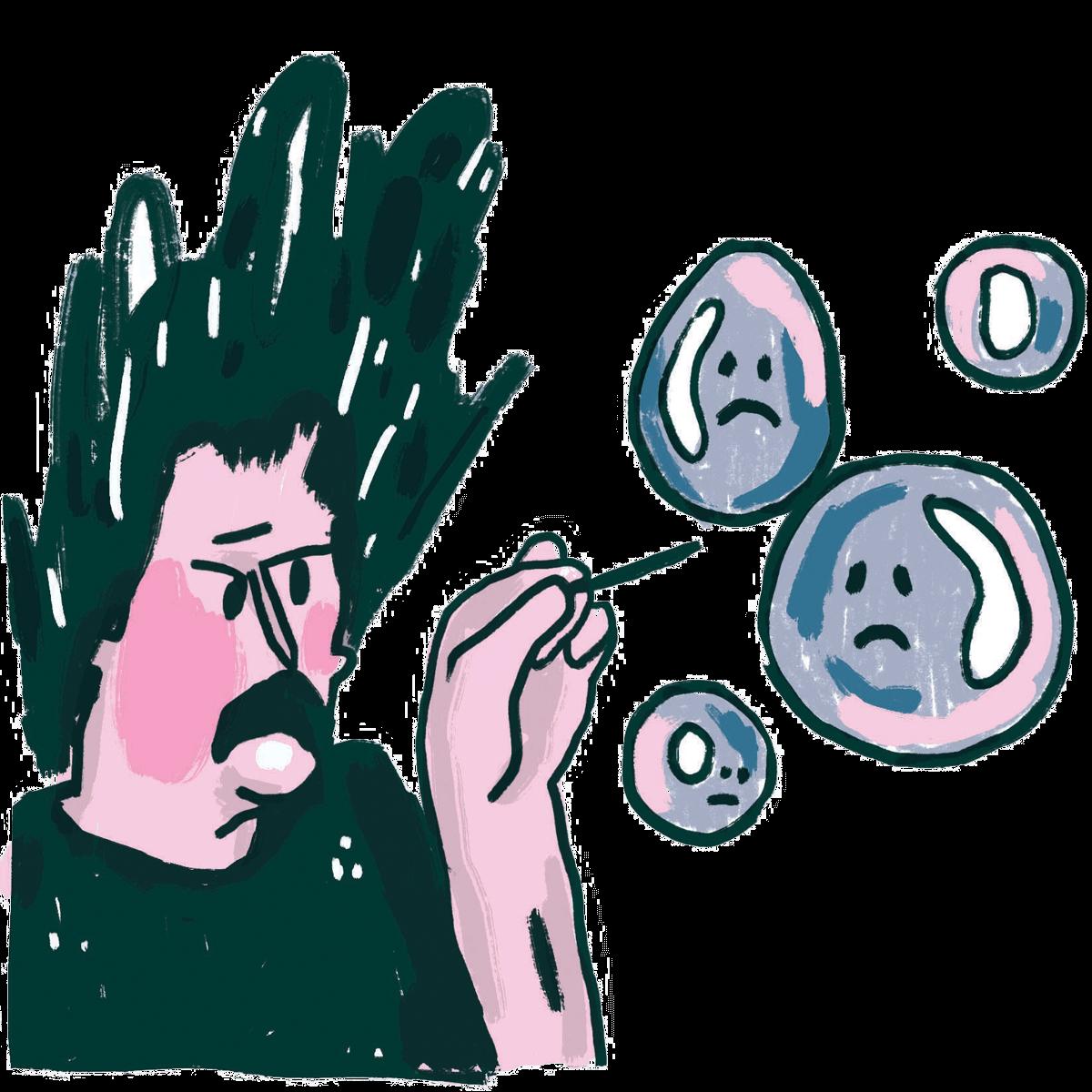 Illustratie Jeukwoord: Bubbels