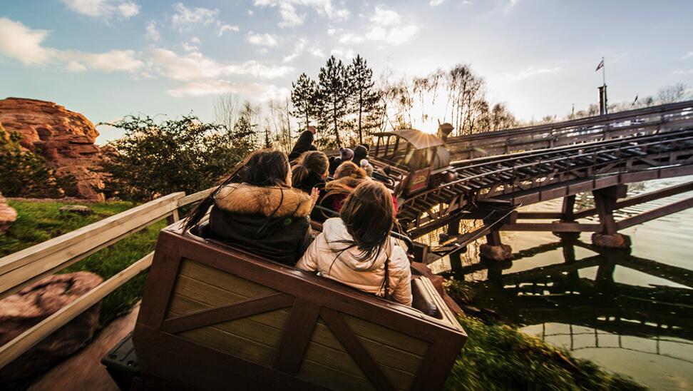 Rollercoaster in Disneyland.