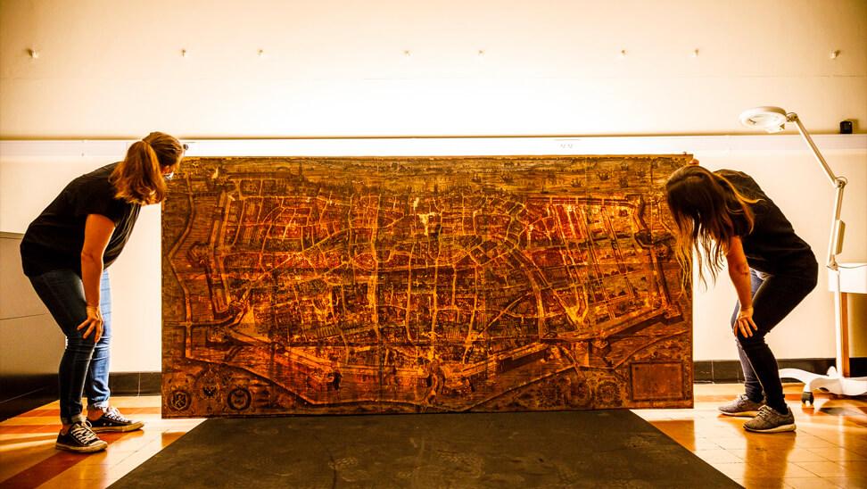 Kaart van Antwerpen uit de expo 'komt een italiaan naar de nederlanden'
